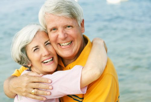 Older couple seek solace staying together