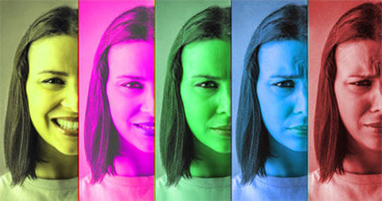Individuals identify emotions 70% of the time with color patterns