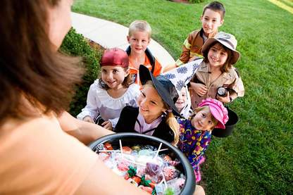 Bribe children into receiving non-edible treats