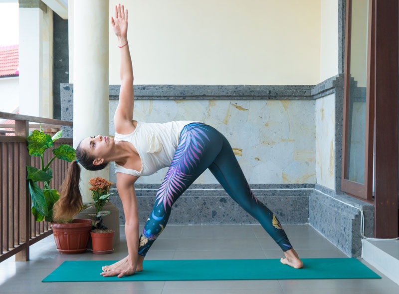 Yoga practices promote digestion efficiency